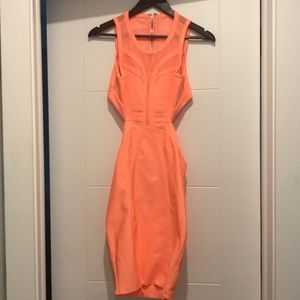 Moving Sale! Wow Couture Bandage Dress w Back Ou t